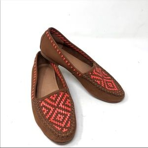 Joie Aliso soft leather woven loafers flats 6.5 A8